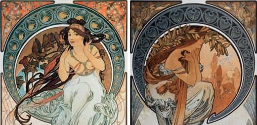 Miniature di donne poetesse nell'antica Grecia