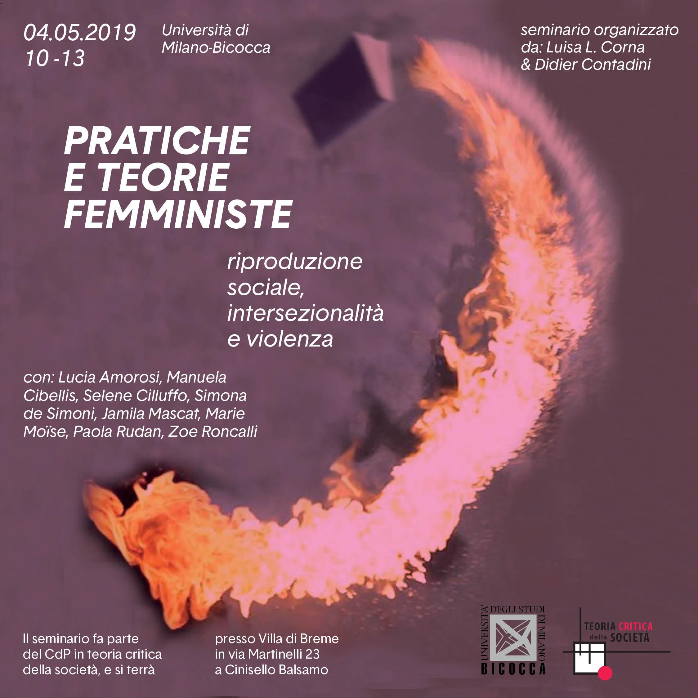 Locandina: Pratiche e Teorie Femministe 04.05.19